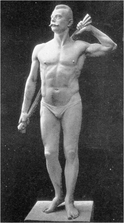 Statue celebrating Muller's body. He developed it this much through My System