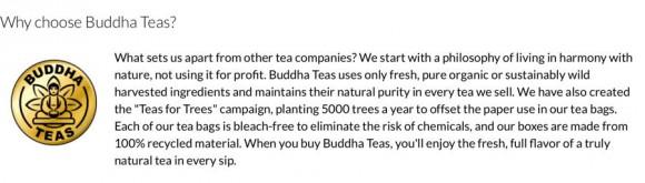 buddha tea why choose