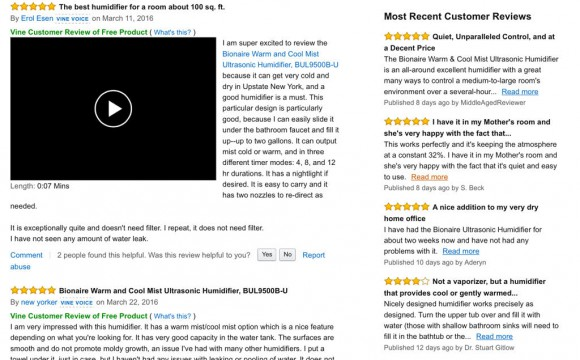 humdifier multiple reviews